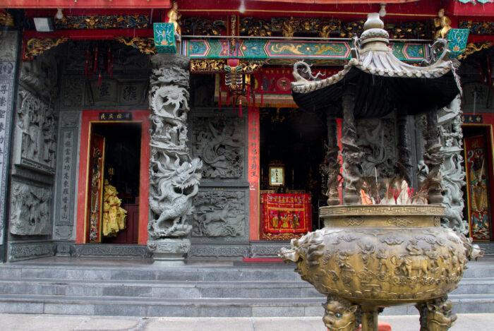 Buddhist temple in Kuching, Malaysia photo via Depositphotos