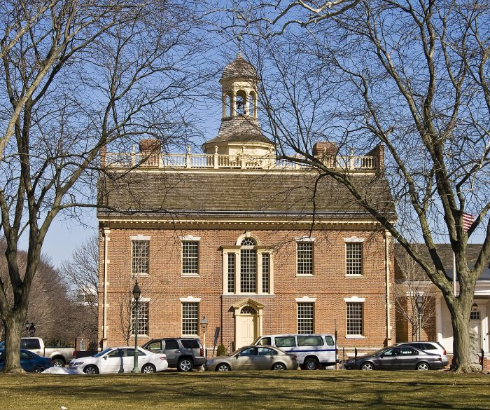 Delaware Old State House photo by Acroterion via Wikipedia CC