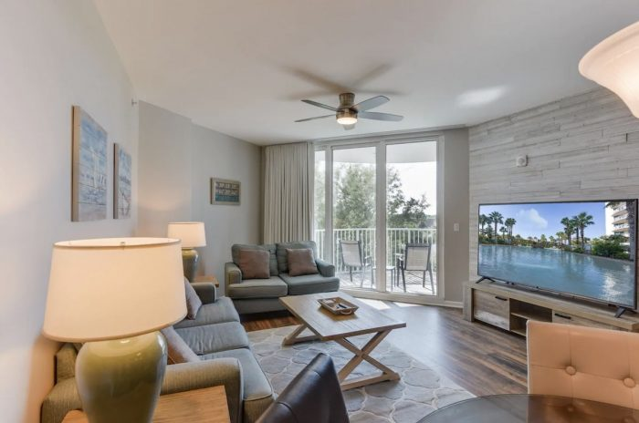 Destin FL Airbnb condo with spectacular pool area close to the beach