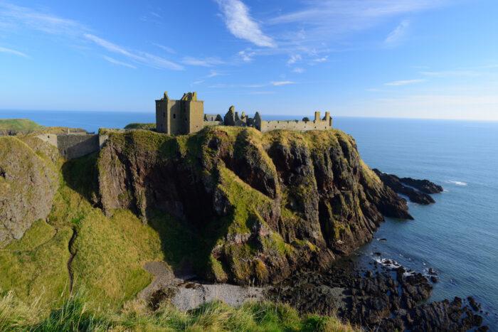Dunnottar Castle in Aberdeen, Scotland photo via Depositphotos