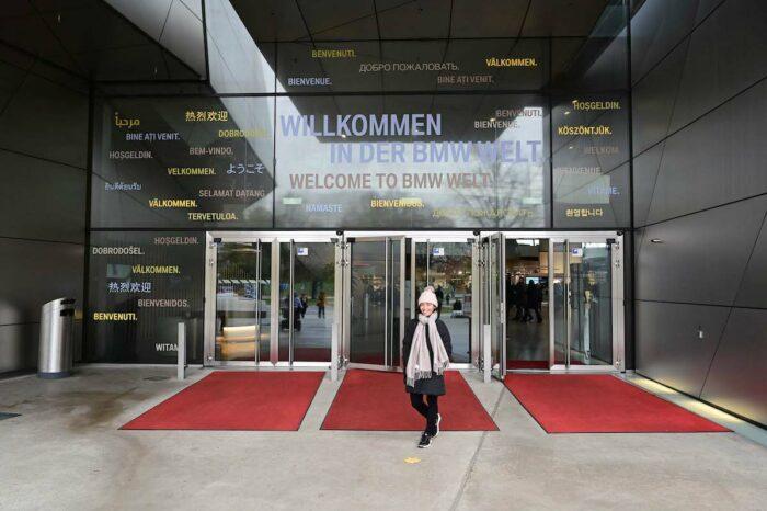 Entrance to BMW Welt