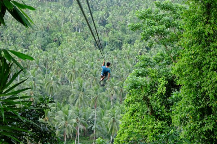 Experience the longest zipline in Bicol at San Lorenzo Ruiz, Camarines Norte. Photo by Ramir G. Cambiado