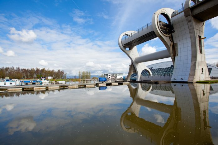 Falkirk Wheel photo via Depositphotos