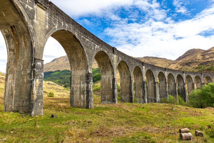 Glenfinnan railway viaduct near Fort William photo via Depositphotos