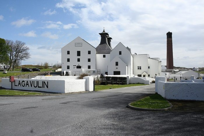 Lagavulin distillery by MSeses via Wikipedia CC