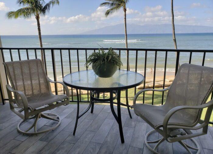 Lahaina Ocean View Condominium Airbnb