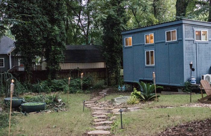 Relaxing tiny house adventure under canopy of trees in Charlotte NC