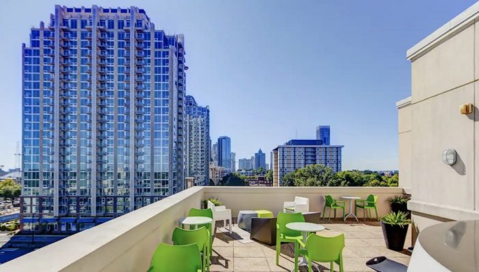 Rooftop Airbnb with Pool and Skyline View of Downtown Charlotte