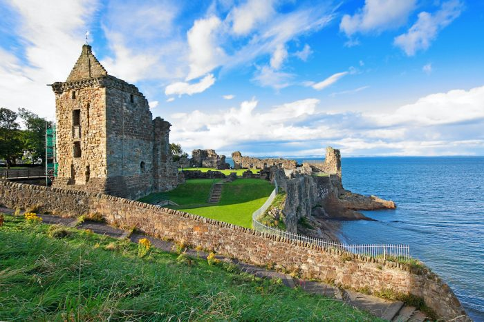 Ruins of St Andrews Castle photo via Depositphotos