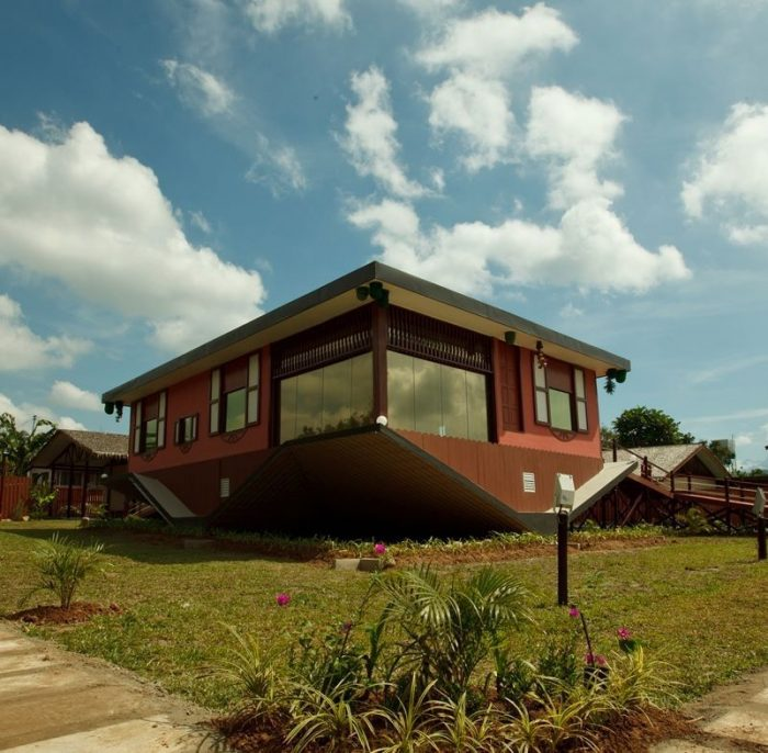Rumah Terbalik - The Upside Down House in Borneo