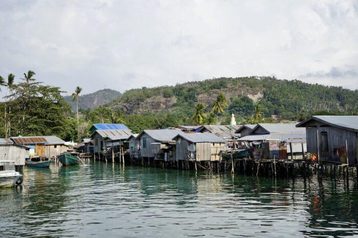 Sama houses on stilts in Simunul Island Tawi-Tawi