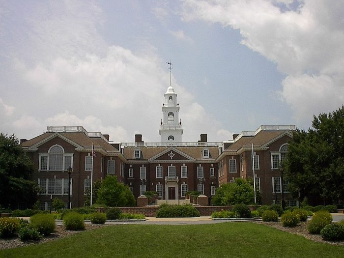 The Delaware State Capitol in Dover photo via Wikipedia CC