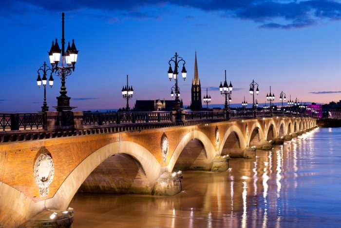 The Pont de pierre in Bordeaux via Depositphotos