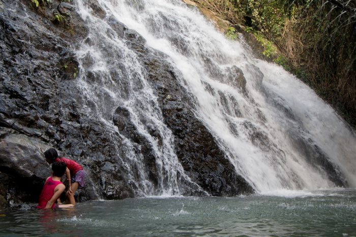 The first layer of Binuang Falls where kids can safely swim and play. Photo by Ramir G. Cambiado