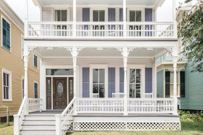 Casa victoriana en alquiler en Galveston Downton