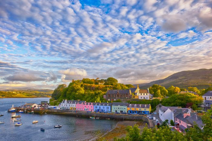 View on Portree, Isle of Skye, Scotland photo via Depositphotos