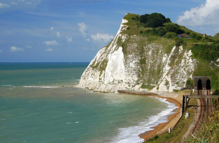 White cliffs of Dover photo via Depositphotos