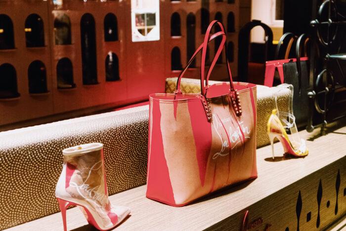 Zurich, Switzerland circa January, 2020/ Shop window display of a luxury boutique store on Bahnhofstrasse street in Zurich, Switzerland photo via Depositphotos
