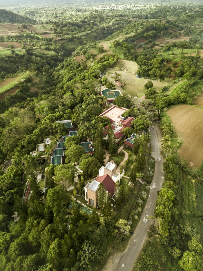 Aerial of Caleruega Church and the countryside of Nasugbu, Batangas photo via Depositphotos
