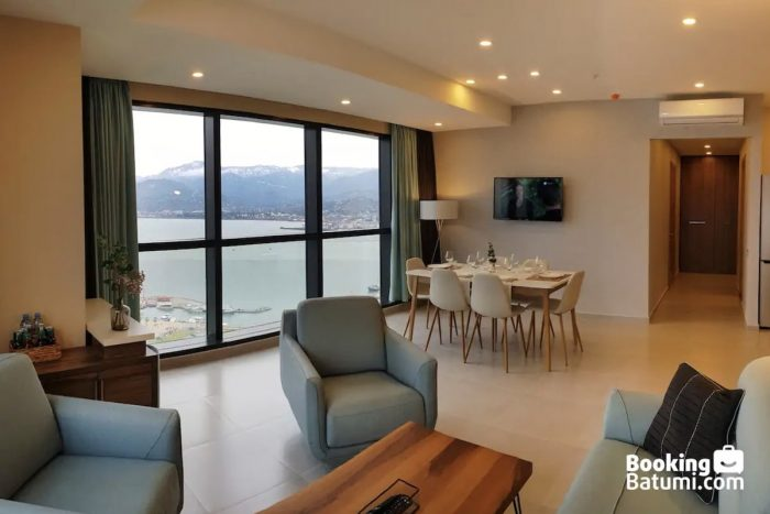 Beachfront Batumi Two-Bedroom Airbnb with a Panoramic View