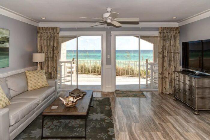 Beachfront Seagrove Condo Airbnb in Santa Rosa Beach FL