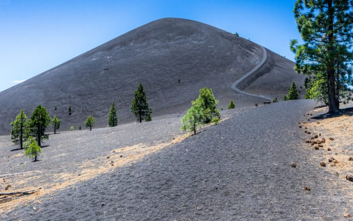 Cinder Cone Volcano in Lassen Volcanic National Park photo via Depositphotos
