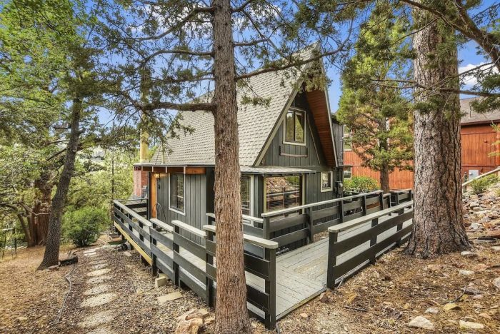 Look Out at Mountain Views from an A-Frame Cabin