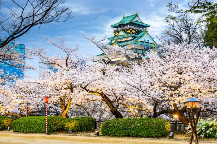 Osaka Castle in Spring photo via Depositphotos