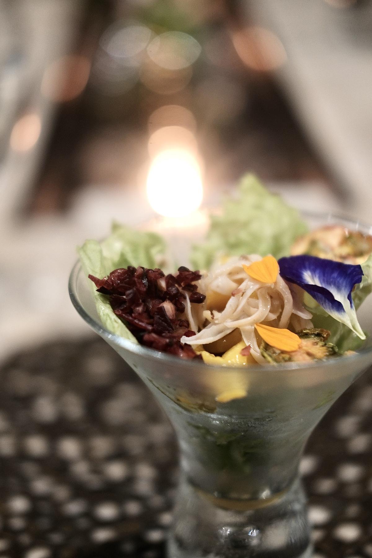 Sea cucumber salad with plum sauce