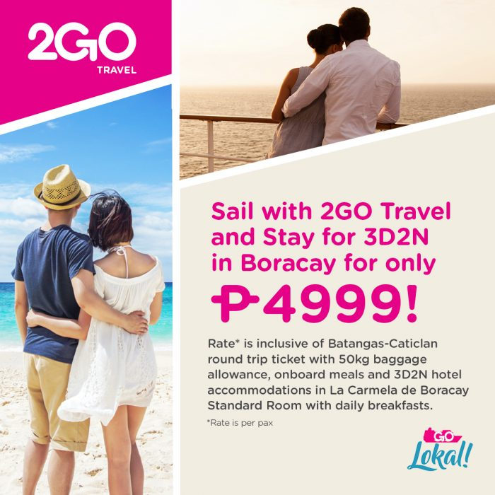 2GO Travel Sail and Stay Promo