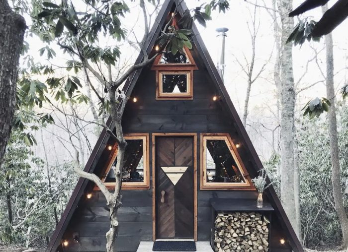 A-Frame House Airbnb in Swannanoa NC