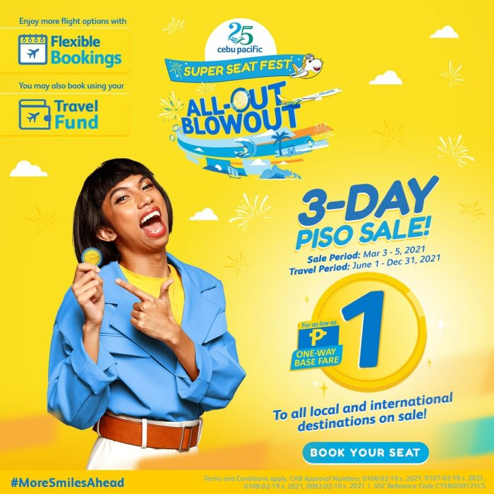 Cebu Pacific rolls out trademark PISO sale on 3.3