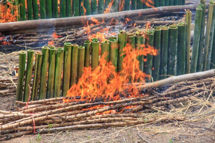 Com Lam Bamboo Sticky Rice photo via Depositphotos