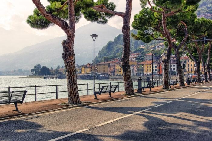 Domaso village on Como lake, Italy photo via Depositphotos