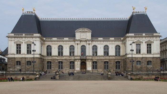 Facade of the palace of Parliament of Brittany by Guillaume Piolle via Wikipedia CC