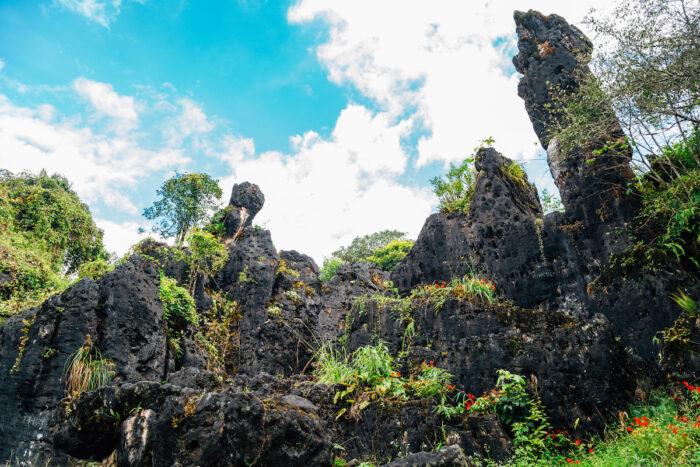 Ham Rong Mountain rock formation in Sapa, Vietnam photo via Depositphotos