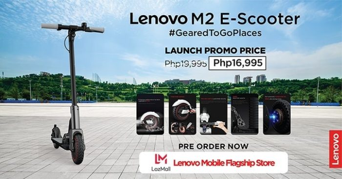 Launch promo price at Lazada_Lenovo M2 E-scooter.png
