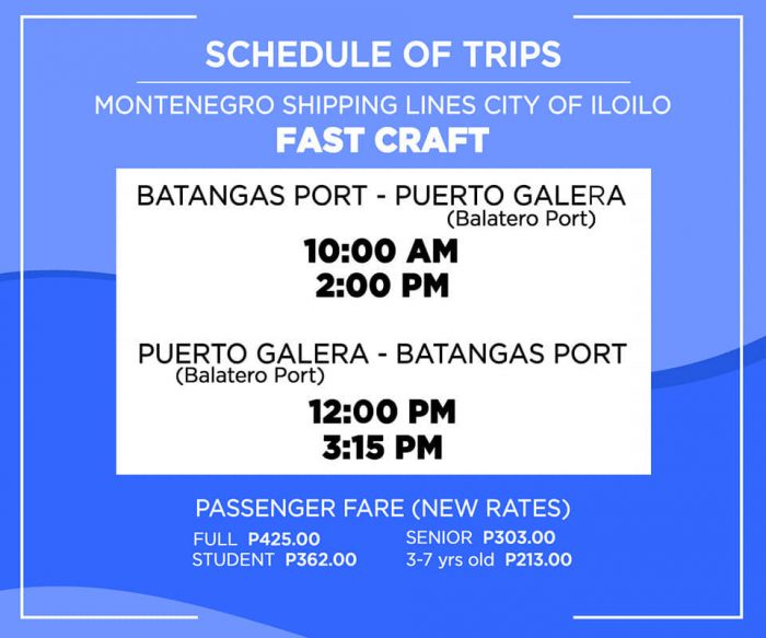 Home.fit Montenegro-Shipping-Lines-Puerto-Galera-Balatero-Port-and-Batangas-Port-Schedule-700x583 2021 Puerto Galera Travel Guide in the New Normal