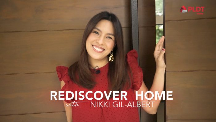 Nikki Gil using PLDT Wifi Mesh