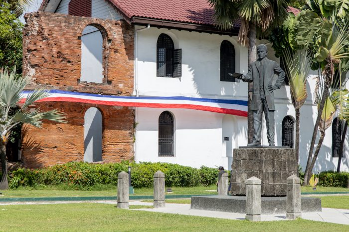 Rizal Statue in Fort Santiago at Intramuros, Manila photo via Depositphotos