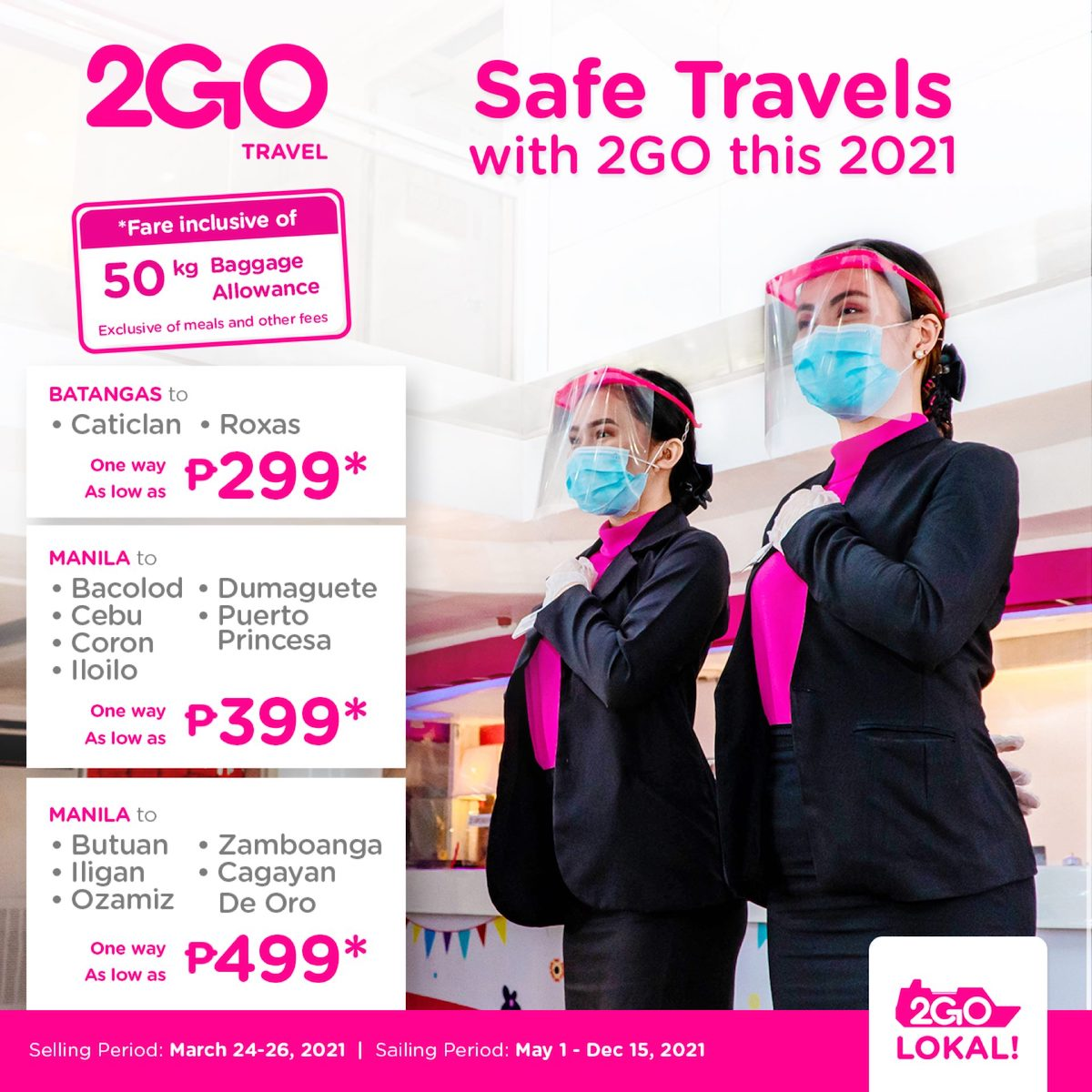 2GO Travel releases new travel protocols, offers free unli rebooking