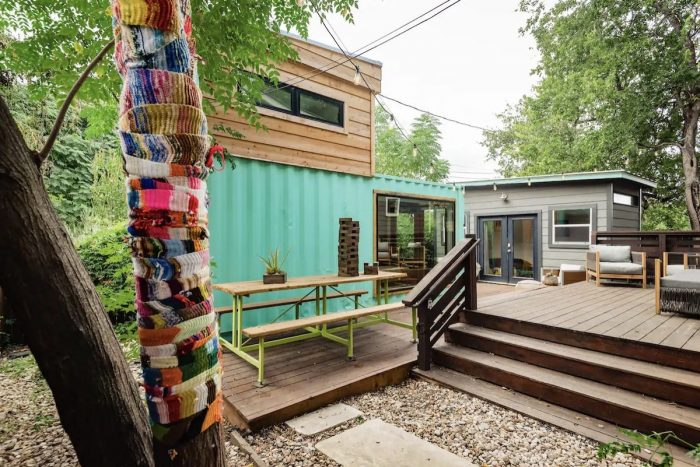Shipping Container House Airbnb in Austin Texas