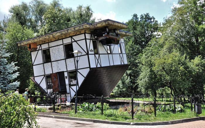 Upside Down House kaliningrad photo via Transiberiana Fb Page
