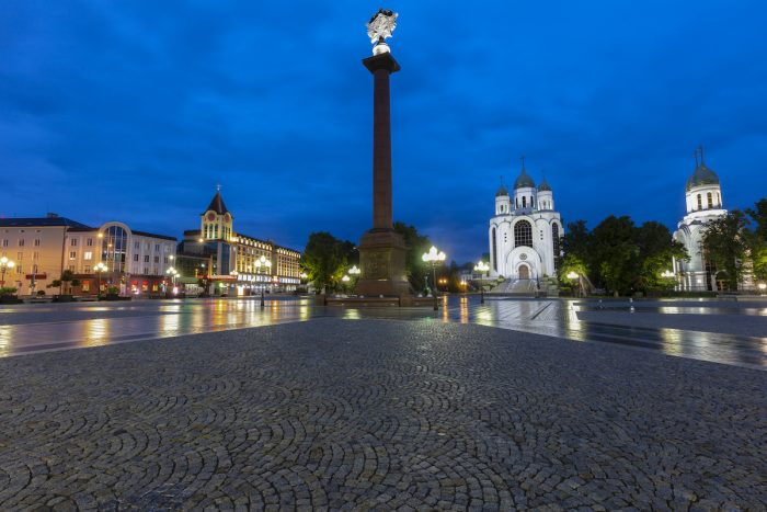 Victory Square in Kaliningrad photo via Depositphotos