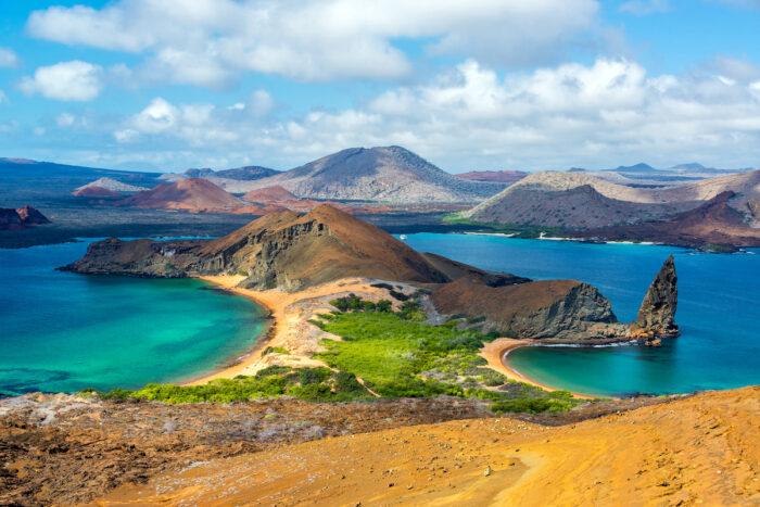 View from Bartolome Island photo via Depositphotos