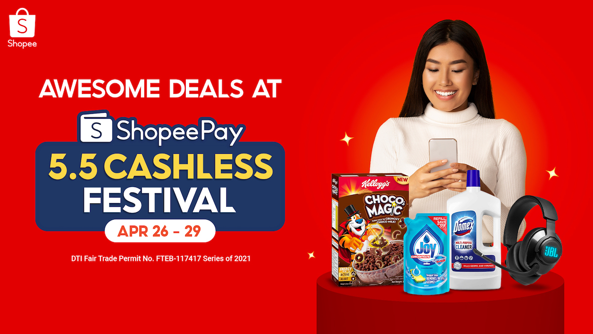 Go Cashless at 5.5 ShopeePay Cashless Festival to Score these Deals