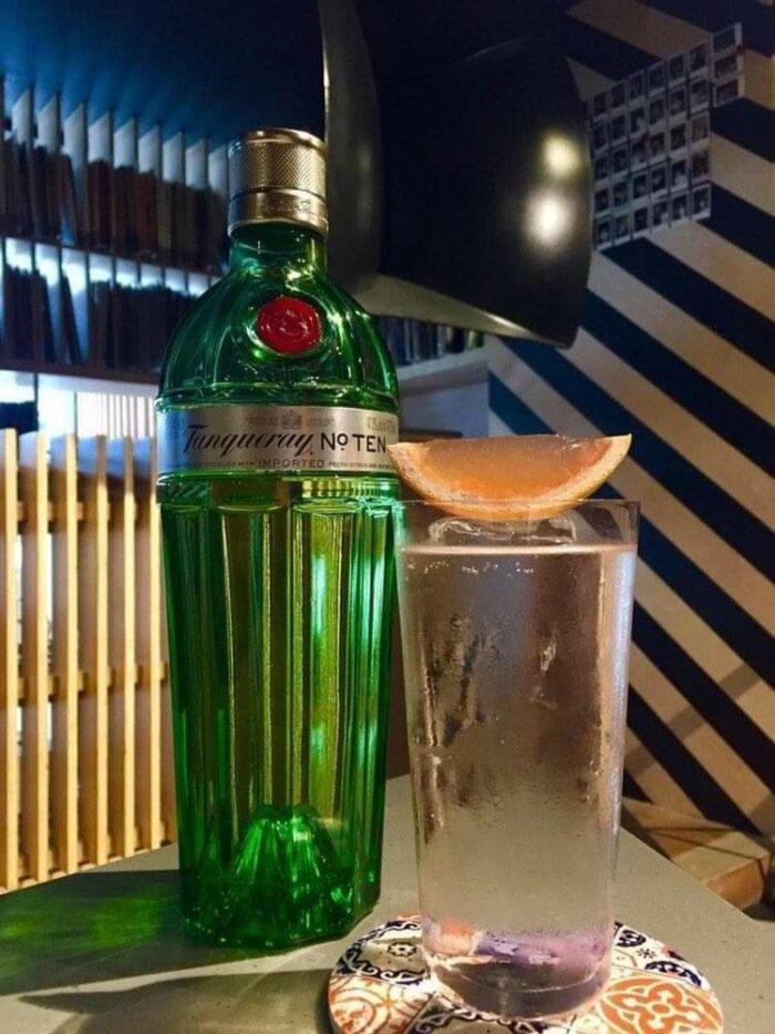 April 15 Class - Euphoria (gin, coconut lychee cordial,  tonic water) (Photo by David Abalayan of OTO)