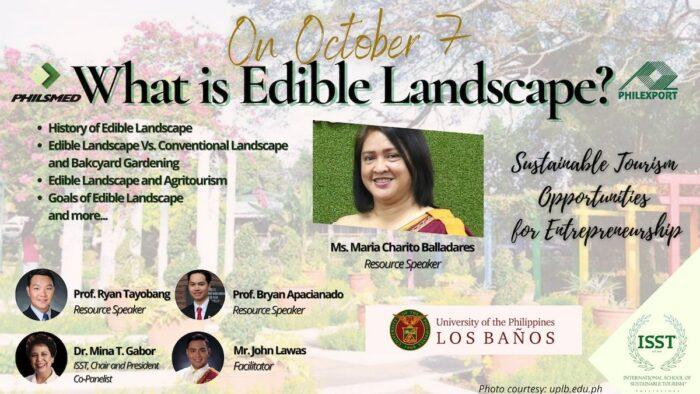 Edible Landscape webinar slide