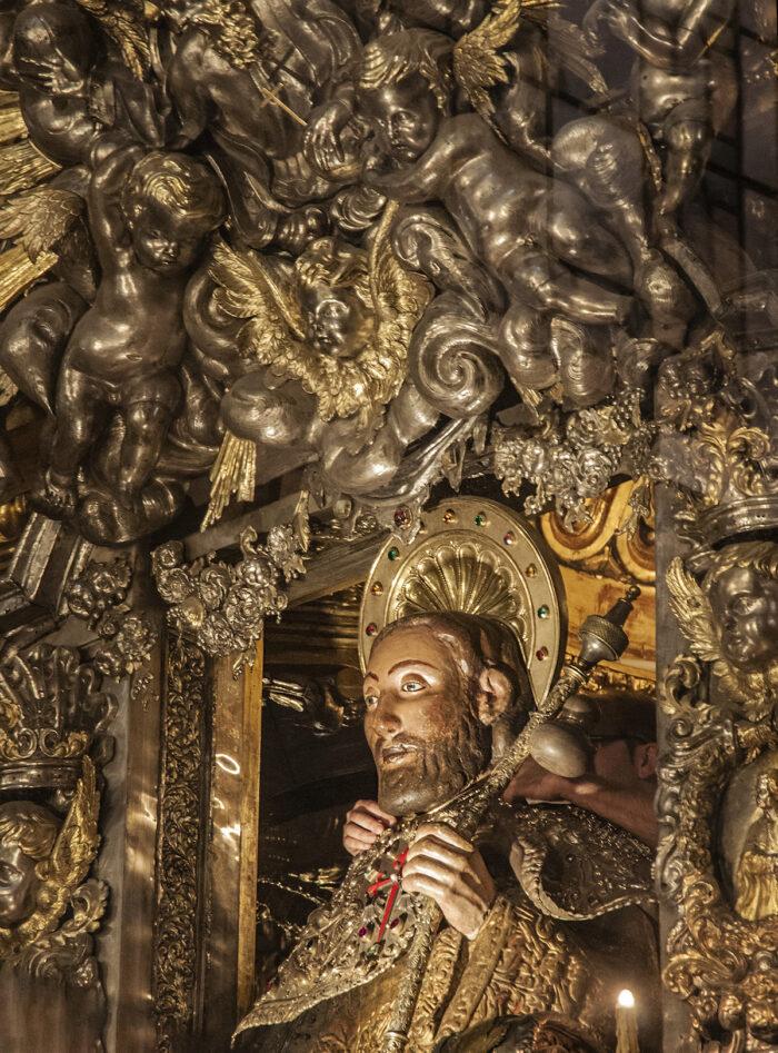 Saint James at the altar.