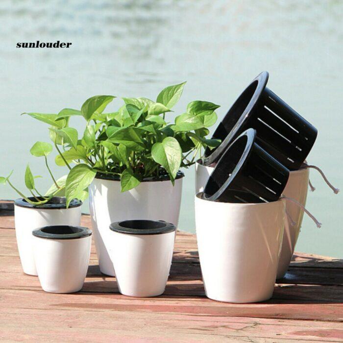 Self-Watering Plant Flower Pot Wall Hanging Planter Vertical Home Garden